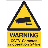 CCTV Warning Signs in 3mm Rigid Plastic Coated Board -UV Fade Proof for 5 Years