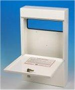 Slimline Anti-Arson Fireproof Letterbox - Ideal for Home, Office, School etc.
